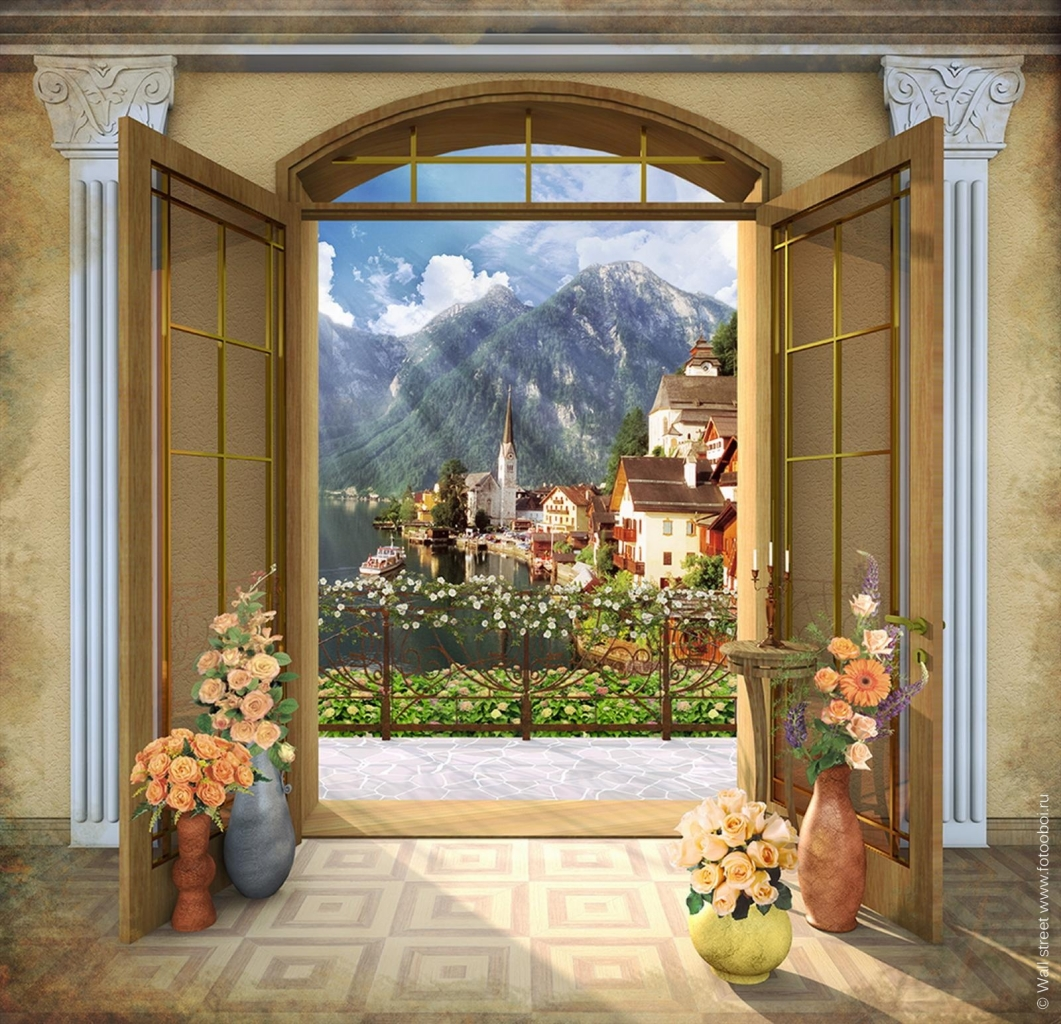 открыть входную дверь в сад